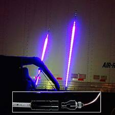 """60"""" 5ft RGB Color Dancing Chasing LED Light Whip Remote Quick Release Offroad 1x"""