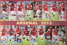 "ARSENAL FC ""2013 SHOTS OF 17 PLAYERS"" POSTER-Soccer,Premier,UEFA League Football"