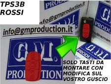 TASTI GOMMINO ROSSI PER chiave telecomando PEUGEOT 407 807 con istruzioni
