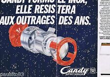 PUBLICITE ADVERTISING 065 1981 CANDY machines à laver (2 pages)