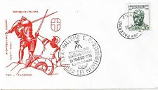 FDC FILAGRANO E. DA NARNI IL GATTAMELATA 1970 XXV Annullo XXV Fiera Mediterraneo