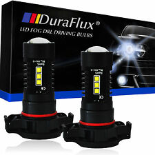 DuraFlux 5202 H16 LED Fog Driving Light Bulbs White 12-SMD CREE XBD 80W 2000LM