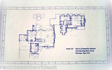 "Bewitched TV Show House Home 1164 Morning Glory Circle Blueprints 24"" X 36"""
