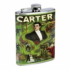Carter the Great Poster Magic Flask D15 8oz Stainless Steel Green Smoke