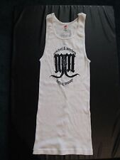 Ribbed Tank T-Shirt Dress, Mischief Mayhem Clothing Co, White , Size M