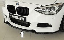 Rieger Frontspoilerlippe in schwarz glänzend für BMW 1er F20/ F21 mit M-Paket