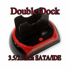 DOCKING STATION HARD DISK 3,5 2,5 SATA IDE 2 HD HDD BOX CASE USB