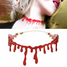 1pc Halloween Dripping Blood Choker Blood drip Necklace Gothic Horror Creepy