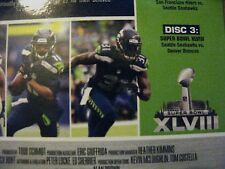 Seattle SEAHAWKS v Denver BRONCOS Game DVD SUPER BOWL 48 XLVIII 49ers Saints NEW