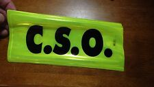 COMMUNITY SERVICE OFFICER CHEIF SECURITY OFFICR C.S.O.  REFLECTIVE PATCH BX XXX