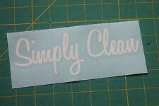 Simply Clean Sticker Decal Illest JDM Subaru Honda Mazda hellaflush Fatlace