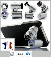 Microscope magnification X60 with sa case For for Iphone 4 or 4S - LED AND UV