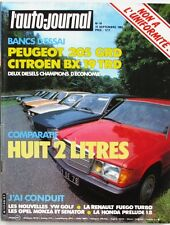 L'Auto-journal n°16-1983-RENAULT FUEGO-PEUGEOT 205 GRD-HONDA-CITROEN BX-VW GOLF-