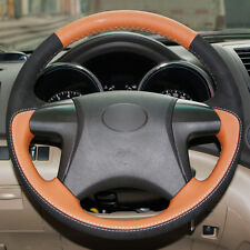 Top Leather Steering Wheel Hand-stitch on Wrap Cover For Toyota Highlander