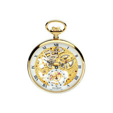 Designer - Jean Pierre of Switzerland - Gold Plated Skeleton Pocket Watch G252PM