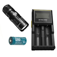 Nitecore EC11 900Lm Flashlight -Includes D2 Charger & 1x RCR123A Battery