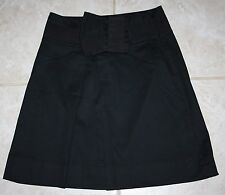 The Limited Black Skirt Wide Waistband Grossgrain Ribbon Large Bow SZ  0 Stretch