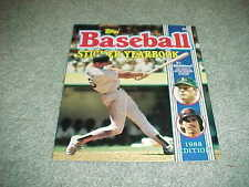 1988 Topps Baseball Sticker Yearbook unused Mark McGwire Oakland A's Cover