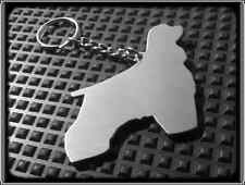 KEYRING DOG - COCKER SPANIEL - STAINLESS STEEL - HAND MADE - CHAIN LOOP KEY FOB