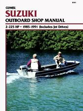 CLYMER DT25 SUZUKI OUTBOARD SHOP REPAIR SERVICE MANUAL 2-225 HP 1985-1991