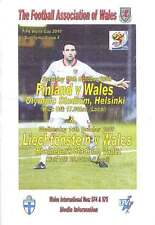 FINLAND & LIECHTENSTEIN v WALES 2009 FOOTBALL MEDIA INFO BOOKLET HELSINKI