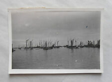 Vintage 40s/ 1948 B/W Photograph. Singapore #6. Looking out towards Junks