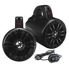 Boss Audio 500W 2-Way Amplified Bluetooth Marine ATV Speakers, Pair | BM40AMPBT