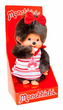 original Monchhichi 7 7/8in large Fashion - Girl Boarder Summer dress with Face