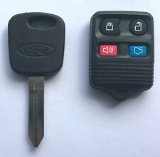 REMOTE + Ford H72 Transponder Key Blank TEX 4C chip with FORD LOGO USA Seller