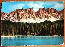 Dolomiti - Lago di Carezza 1530 col Latemar 2846 [grande, colore]