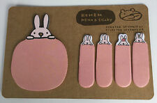 cute pink Funny rabbit Sticker Bookmark Sticky Notes Marker Memo Post Flag hot