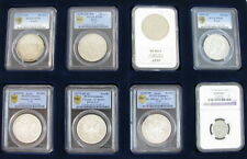 RARE LOT SET 2 RUSSIAN ANTIQUE COINS ROUBLE CERTIFIED PCGS AU55++ NGC RUSSIA