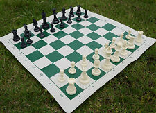 Outdoor  Chess Set Plastic Pieces Board 20.5 X20.5  inch + carrying case