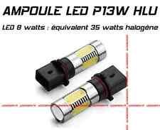 KIT 2 AMPOULE LED XENON HLU P13W 8W EQUIVALENT 35W HALOGENE FEUX DE JOUR