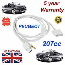 Peugeot 207 3GS 4 4S iPhone iPod USB & Aux 3.5mm USB Cable in white