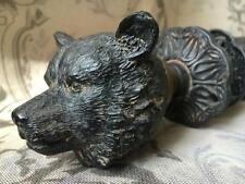 NEW Vintage Antique style Cast Iron Ornate Bear Door Knob Handle Set Shabby Chic