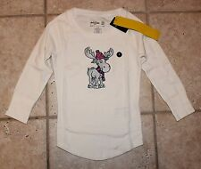 NWT Abercrombie Girls Small Size 10 Moose with Hat and Scarf Sleep Top