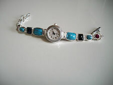 DESIGNER TURQUOISE/BLACK/PINK STYLE  WOMEN'S FASHION WATCH