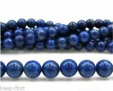 """Genuine 8mm Natural Indigo Lapis Lazuli Round Beads 15""""AAA"""