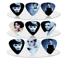 10pcs 1.0mm Beauty Audry Hephum Mix Guitar Picks Plectrums Printed Both Sides