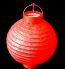Red Paper Hanging Lantern Battery LED Chinese Party Light