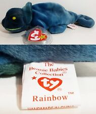 """TY Beanie Babies """"RAINBOW (ODDITY!! Should be IGGY)"""" CHAMELEON - MWMT! MUST HAVE"""