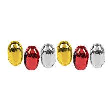 Pack de 6 or/argent/rouge métallisé cadeau 5mm curling ruban - 60 mètres