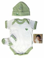 iPlay Green Sprouts Baby Layette 3 Piece Set, Hat, Socks, Overalls, LOT 100 PCS