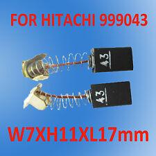 Carbon Brushes For Hitachi 999033 999043  Planer 7X11X17mm CR12V CR13V CR13VA