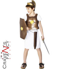 Greek Soldier Armour Kids Fancy Dress Costume Body Armour Roman Gladiator
