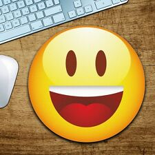 Emoji Happy Mousepad Mauspad tapis de souris für Apple & Windows Neu