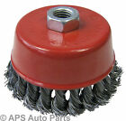 100mm Rotary Wire Brush Crimp Cup Wheel Angle Grinder M14 Industrial Twisted