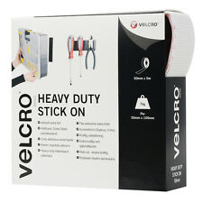 VELCRO® Brand Heavy Duty Self Adhesive Stick on Tape 50mm x 5m White