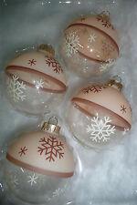 Christbaumkugeln Weihnachtskugeln Christbaumschmuck Glas Lauscha beige braun